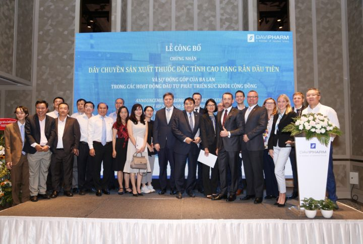Vietnam's First HP Zone for Solid Forms Opens in Davipharm manufacturing plant in Binh Duong